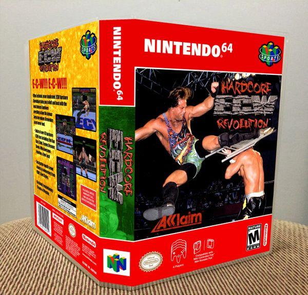 ECW Hardcore Revolution N64 Game Case with Internal Artwork
