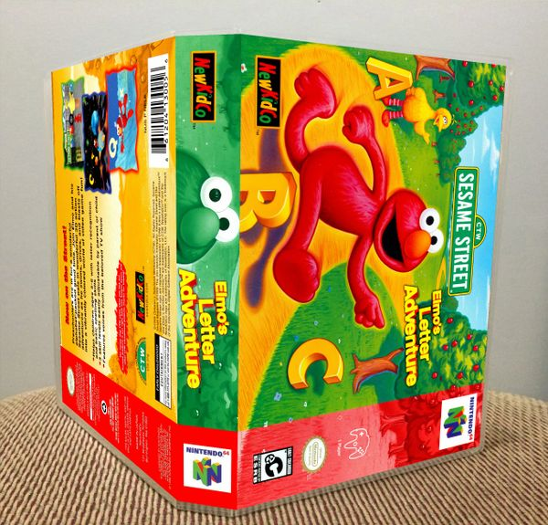 Elmo's Letter Adventure N64 Game Case with Internal Artwork