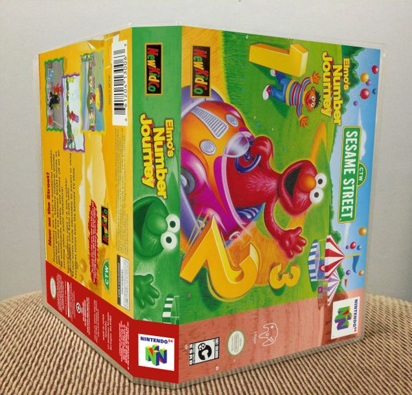 Elmo's Number Journey N64 Game Case with Internal Artwork