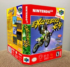 Excitebike 64 N64 Game Case with Internal Artwork