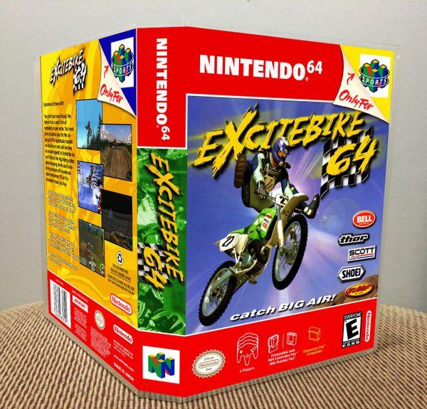 Excitebike 64 N64 Game Case with Internal Artwork