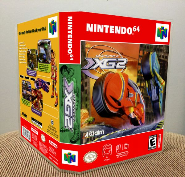 Extreme-G 2 N64 Game Case with Internal Artwork