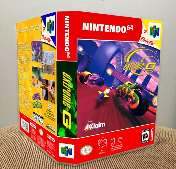 Extreme-G N64 Game Case with Internal Artwork