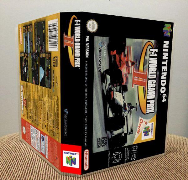 F-1 World Grand Prix II N64 Game Case with Internal Artwork