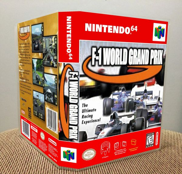 F-1 World Grand Prix N64 Game Case with Internal Artwork