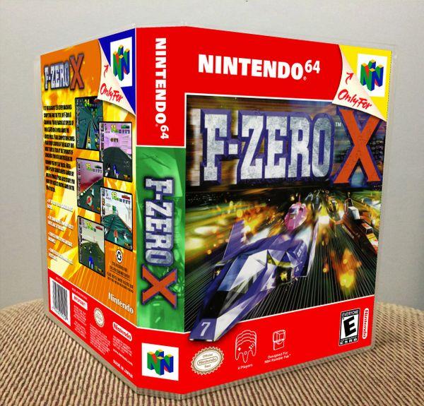 F-Zero X N64 Game Case with Internal Artwork
