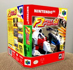 F1 Pole Position 64 N64 Game Case with Internal Artwork