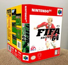 FIFA Soccer 64 N64 Game Case with Internal Artwork