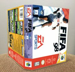 FIFA: Road to World Cup 98 N64 Game Case with Internal Artwork