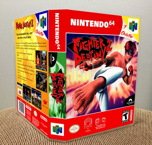 Fighter Destiny 2 N64 Game Case with Internal Artwork