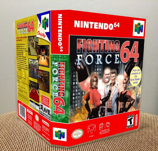 Fighting Force 64 N64 Game Case with Internal Artwork