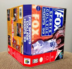 Fox Sports College Hoops '99 N64 Game Case with Internal Artwork