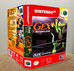Gex 3: Deep Cover Gecko N64 Game Case with Internal Artwork