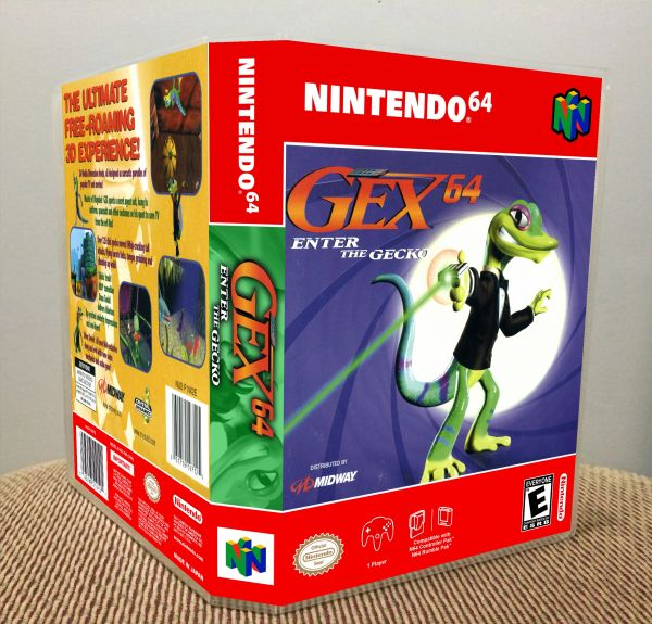 Gex 64: Enter the Gecko N64 Game Case with Internal Artwork