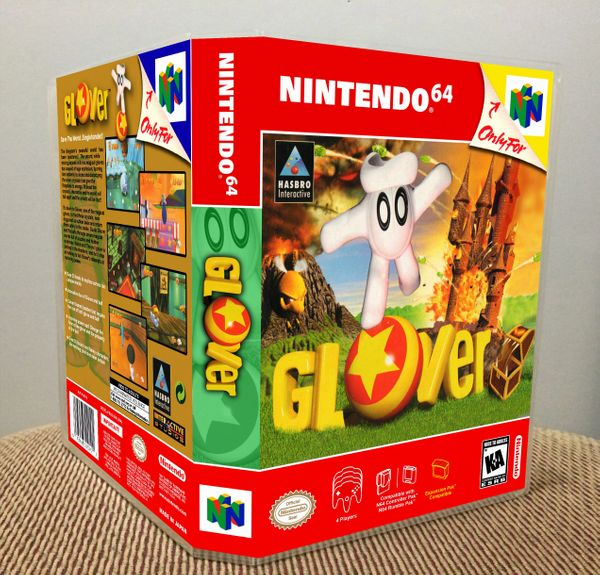 Glover N64 Game Case with Internal Artwork