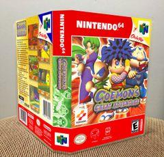 Goemon's Great Adventure N64 Game Case with Internal Artwork