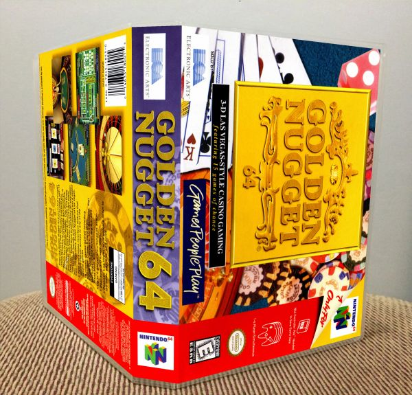 Golden Nugget 64 N64 Game Case with Internal Artwork