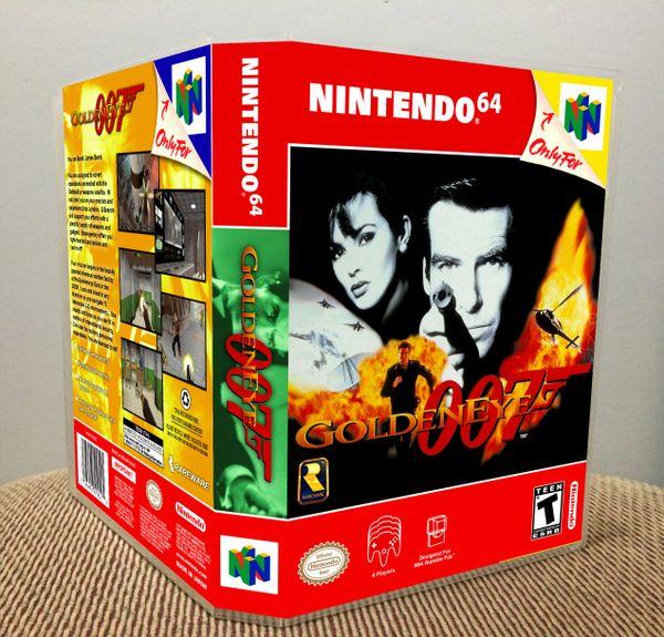 Goldeneye 007 N64 Game Case with Internal Artwork