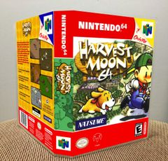 Harvest Moon 64 N64 Game Case with Internal Artwork