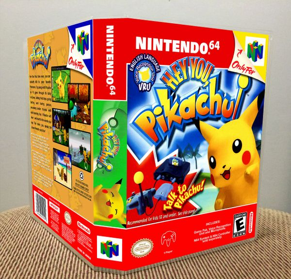 Hey You, Pikachu! N64 Game Case with Internal Artwork