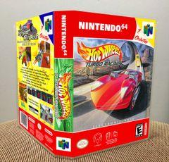 Hot Wheels Turbo Racing N64 Game Case with Internal Artwork