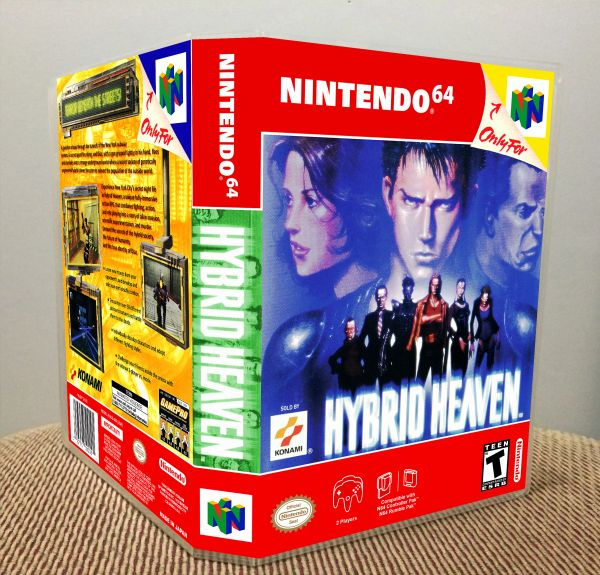 Hybrid Heaven N64 Game Case with Internal Artwork