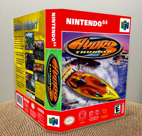 Hydro Thunder N64 Game Case with Internal Artwork