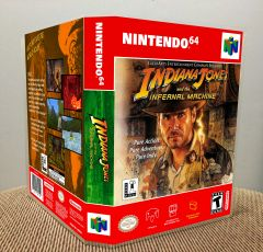 Indiana Jones and the Infernal Machine N64 Game Case with Internal Artwork