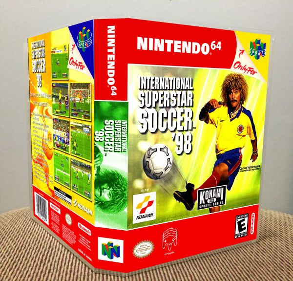 International Superstar Soccer '98 N64 Game Case with Internal Artwork