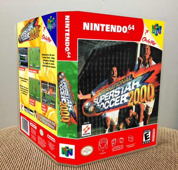 International Superstar Soccer 2000 N64 Game Case with Internal Artwork