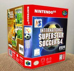 International Superstar Soccer 64 N64 Game Case with Internal Artwork