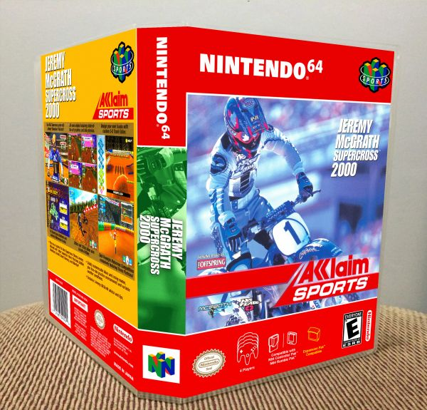 Jeremy McGrath Supercross 2000 N64 Game Case with Internal Artwork