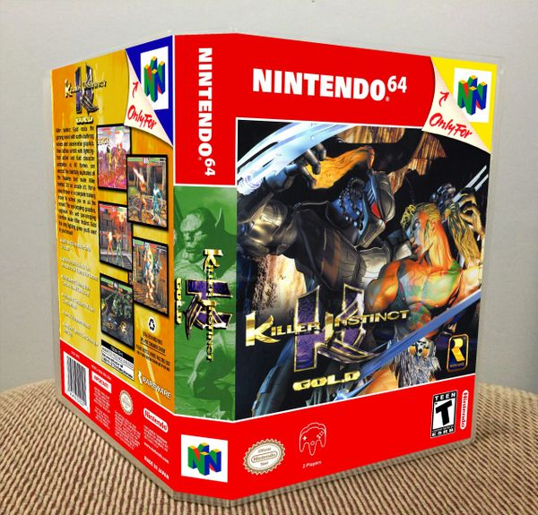 Killer Instinct Gold N64 Game Case with Internal Artwork