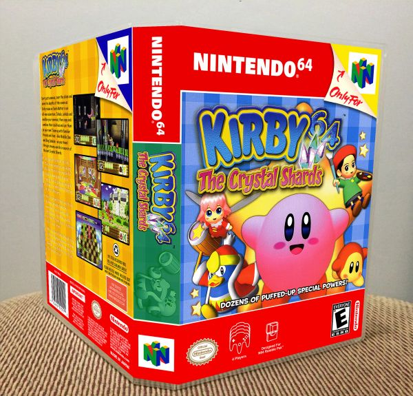 Kirby 64: The Crystal Shards N64 Game Case with Internal Art