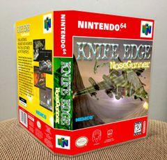 Knife Edge: Nose Gunner N64 Game Case with Internal Artwork