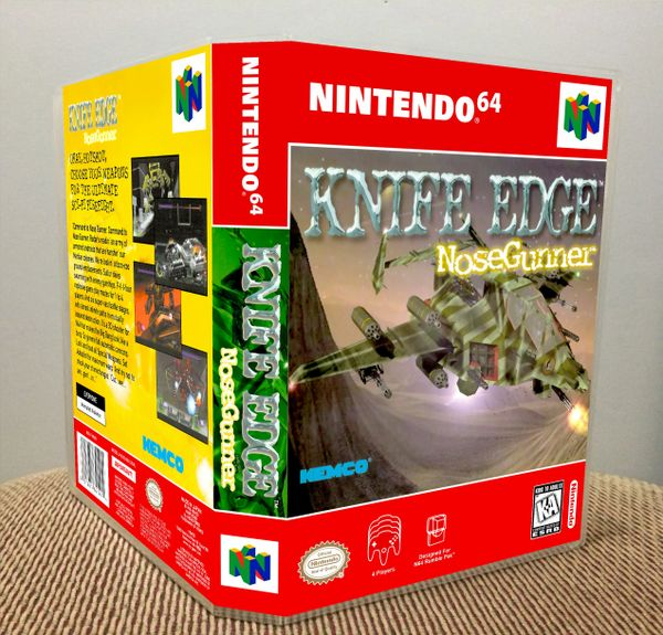 Knife Edge: Nose Gunner N64 Game Case with Internal Artwork