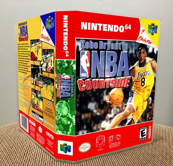 Kobe Bryant in NBA Courtside N64 Game Case with Internal Artwork