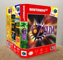 Legend of Zelda Majora's Mask N64 Game Case with Internal Artwork