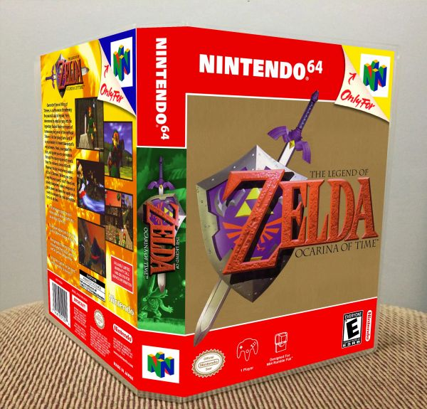 Legend of Zelda: Ocarina of Time N64 Game Case with Internal Artwork