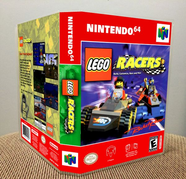 LEGO Racers N64 Game Case with Internal Artwork
