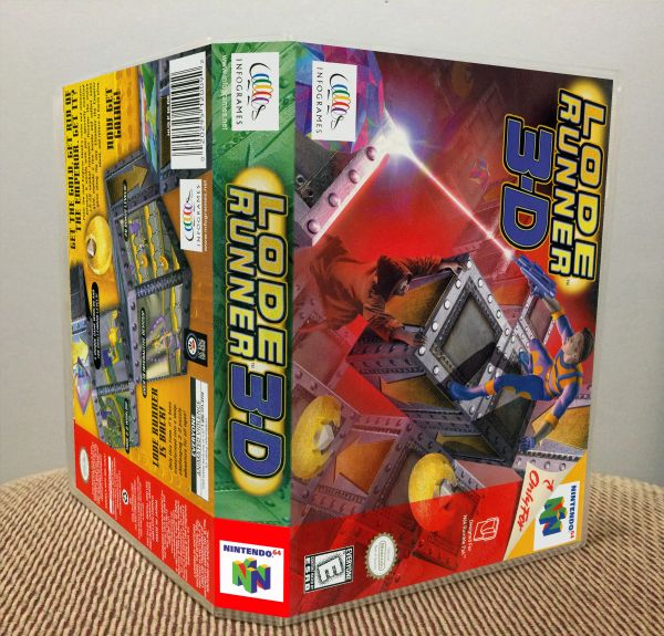 Lode Runner 3-D N64 Game Case with Internal Artwork
