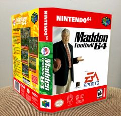 Madden Football 64 N64 Game Case with Internal Artwork