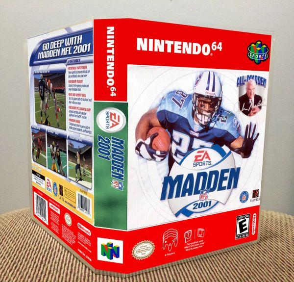 Madden NFL 2001 N64 Game Case with Internal Artwork