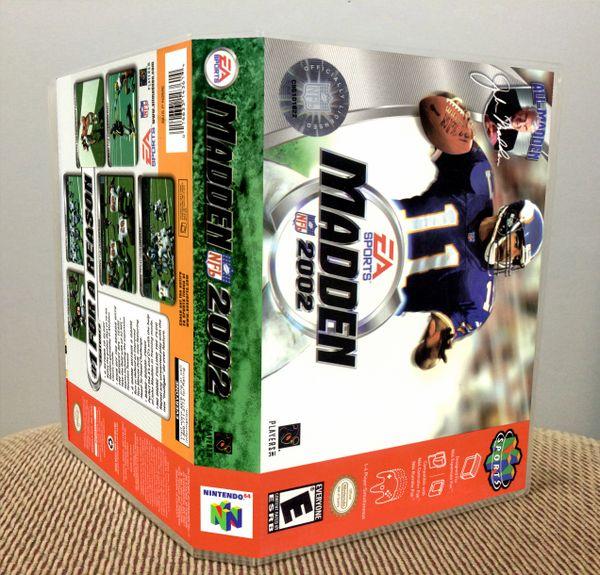 Madden NFL 2002 N64 Game Case with Internal Artwork
