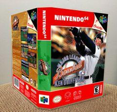 Major League Baseball Featuring Ken Griffey, Jr. N64 Game Case with Internal Artwork