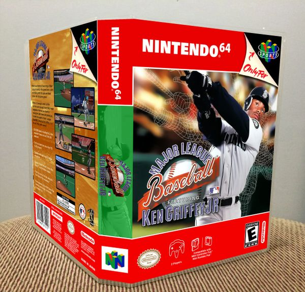 Major League Baseball Featuring Ken Griffey, Jr. N64 Game Case with Internal Artwork