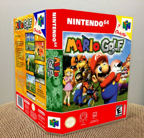 Mario Golf N64 Game Case with Internal Artwork