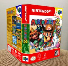 Mario Party 2 N64 Game Case with Internal Artwork