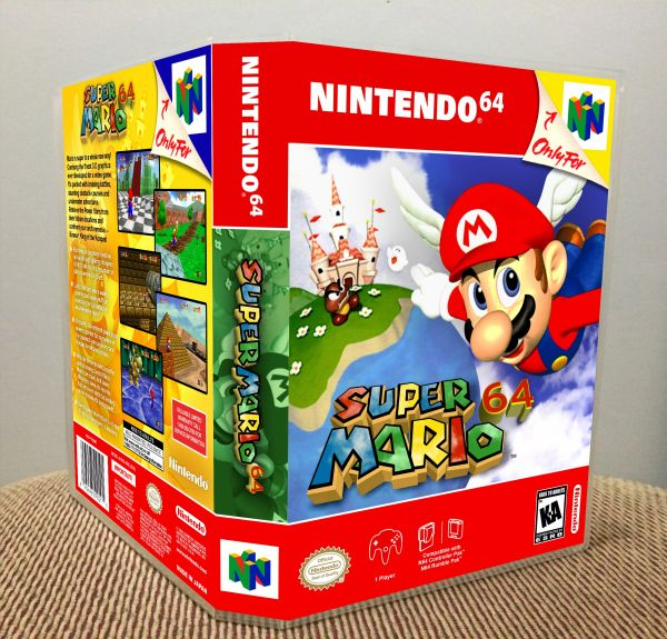 Super Mario 64 N64 Game Case with Internal Artwork