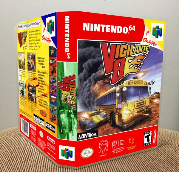 Vigilante 8 N64 Game Case with Internal Artwork